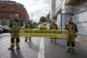 Rescue Organisation Ireland carrying Social Distancing Sign