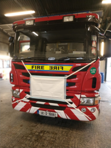 Fire Engine wearing Face Mask